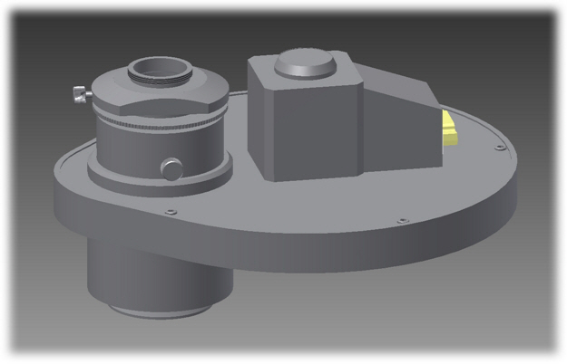 Filter Wheel for Emission Lightpath on Olympus Microscopes